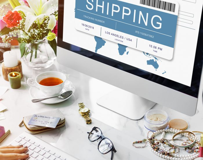 64307386 - online shopping shipping internet commerce concept